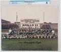 """Explorers:Space Exploration, Philadelphia Eagles Team Large Color Photo Congratulating Apollo 11's """"First 'Eagle' Touchdown of 1969"""" Directly From The ..."""