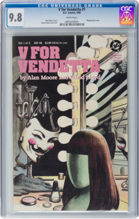V For Vendetta #1 (DC, 1988) CGC NM/MT 9.8 White pages