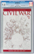 Modern Age (1980-Present):Superhero, Civil War #1 Sketch Cover Variant (Marvel, 2006) CGC NM/MT 9.8White pages....