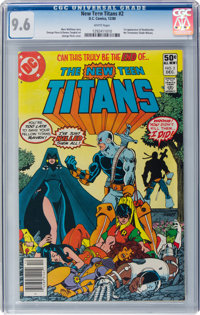 New Teen Titans #2 (DC, 1980) CGC NM+ 9.6 White pages