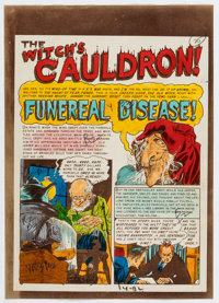 """Marie Severin The Vault of Horror #32 Complete 7-Page Story """"Funeral Disease"""" Silverprint Color Guide Group (E..."""