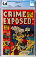 Golden Age (1938-1955):Crime, Crime Exposed #5 (Atlas, 1951) CGC NM 9.4 Off-white to white pages....