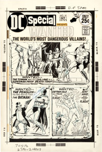 Murphy Anderson DC Special #14 Wanted: The World's Most Dangerous Villains Cover Superman, Batman, and