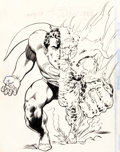 Original Comic Art:Covers, Neal Adams and Murphy Anderson Superman #263 Cover Original Art (DC, 1973)....