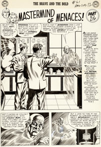 "Murphy Anderson Brave and the Bold #61 ""Mastermind of Menaces!"" Chapter 2 Starman and Black Canary Original Ar..."