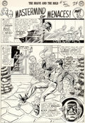 "Original Comic Art:Panel Pages, Murphy Anderson Brave and the Bold #61 ""Mastermind of Menaces!"" Chapter 3 Starman and Black Canary Original Art Gr... (Total: 6 Original Art)"