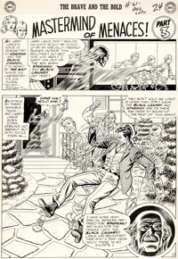 "Murphy Anderson Brave and the Bold #61 ""Mastermind of Menaces!"" Chapter 3 Starman and Black Canary Original Ar..."