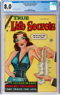 Golden Age (1938-1955):Romance, True Life Secrets #23 (Romantic Love Stories/Charlton, 1954) CGC VF8.0 Off-white pages....