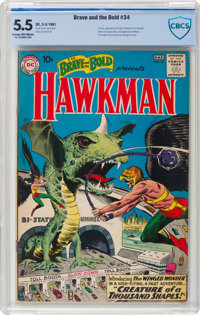 The Brave and the Bold #34 Hawkman (DC, 1961) CBCS FN- 5.5 Cream to off-white pages
