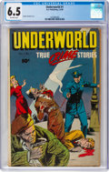 Golden Age (1938-1955):Crime, Underworld #1 (D.S. Publishing, 1948) CGC FN+ 6.5 Off-white pages....