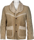 Music Memorabilia:Costumes, Elvis Presley Owned and Worn Suede Jacket (circa 1960s). . ...