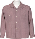 Music Memorabilia:Costumes, Elvis Presley Long-Sleeved Button-Up Shirt (Harper). ...