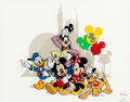 """Animation Art:Seriograph, """"Around the 'World' with the Fab Five"""" Mickey Mouse and Friends Limited Edition Sericel (Walt Disney, 1996)...."""