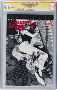 The Amazing Spider-Man #640 Sketch Cover - Signature Series (Marvel, 2010) CGC NM+ 9.6 White pages