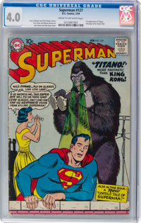 Superman #127 (DC, 1959) CGC VG 4.0 Cream to off-white pages