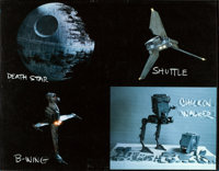 "Return of the Jedi (20th Century Fox, 1983). Very Fine/Near Mint. Model Identification Sheets (3) (14"" X 11"")..."
