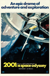 "2001: A Space Odyssey (MGM, 1968). Very Fine- on Linen. One Sheet (27"" X 41"") Style A, Robert McCall Artwork..."