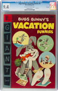 Golden Age (1938-1955):Cartoon Character, Dell Giant Comics: Bugs Bunny Vacation Funnies #6 File Copy (Dell, 1956) CGC NM 9.4 Off-white to white pages....