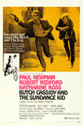 "Movie Posters:Western, Butch Cassidy and the Sundance Kid (20th Century Fox, 1969). Very Fine+ on Linen. One Sheet (27.25"" X 41"") Style B.. ..."