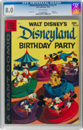 Silver Age (1956-1969):Cartoon Character, Dell Giant Comics: Disneyland Birthday Party #1 (Dell, 1958) CGC VF 8.0 Off-white pages....
