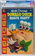 Golden Age (1938-1955):Funny Animal, Dell Giant Comics: Donald Duck Beach Party #2 File Copy (D...