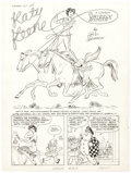 "Original Comic Art:Complete Story, Bill Woggon Laugh Comics #107 Complete 6-Page Katy Keene Story ""Grizzly Roundup"" Original Art (Archie, 1960).... (Total: 6 Original Art)"