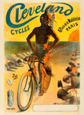 Movie Posters:Miscellaneous, Cleveland Cycles (1898). Fine+ on Linen. French Ad...