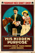 Movie Posters:Comedy, His Hidden Purpose (Paramount, 1918). Folded, Fine/Very Fi...