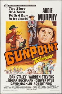 "Gunpoint & Other Lot (Universal, 1966). Folded, Very Fine-. One Sheets (3) (27"" X 41"") & Lobby Card Se..."