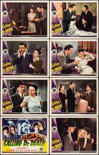 "Calling Dr. Death (Universal, 1943). Very Fine+. Lobby Card Set of 8 (11"" X 14""). Mystery. ... (Total: 8 Items..."