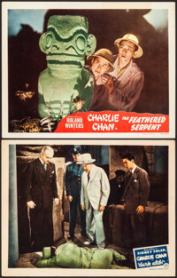 "Dark Alibi & Other Lot (Monogram, 1946). Very Fine-. Lobby Cards (2) (11"" X 14""). Mystery. ... (Total:..."