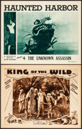 """Movie Posters:Serial, King of the Wild & Other Lot (Mascot, 1931). Very Fine. Lobby Cards (2) (11"""" X 14"""") Chapter 2 -- """"The Fire of the Gods."""" Ser... (Total: 2 Items)"""