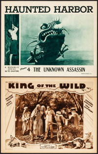 """King of the Wild & Other Lot (Mascot, 1931). Very Fine. Lobby Cards (2) (11"""" X 14"""") Chapter 2 -- """"..."""
