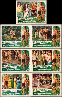"Tarzan and the Leopard Woman (RKO, 1946). Very Fine+. Lobby Cards (7) (11"" X 14""). Adventure. ... (Total: 7 It..."