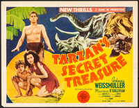 "Tarzan's Secret Treasure (MGM, 1941). Very Fine-. Title Lobby Card (11"" X 14""). Adventure"