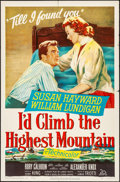 "Movie Posters:Drama, I'd Climb the Highest Mountain (20th Century Fox, 1951). Folded,Very Fine-. One Sheet (27"" X 41""). Drama.. ..."