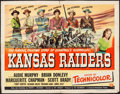 """Movie Posters:Western, Kansas Raiders & Other Lot (Universal International, 1950).Folded, Fine/Very Fine. Half Sheets (2) (22"""" X 28"""") Style B. Wes...(Total: 2 Items)"""