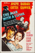 "Movie Posters:Film Noir, The Man with a Cloak (MGM, 1951). Folded, Fine/Very Fine. One Sheet(27"" X 41""). Film Noir.. ..."