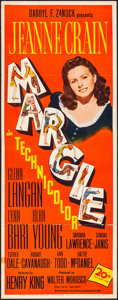 "Movie Posters:Comedy, Margie (20th Century Fox, 1946). Folded, Very Fine-. Insert (14"" X36""). Comedy.. ..."