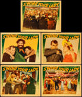"Movie Posters:Comedy, Swing Your Lady (Warner Brothers, 1938). Fine/Very Fine. Linen Finish Lobby Cards (5) (11"" X 14""). Comedy.. ... (Total: 5 Items)"
