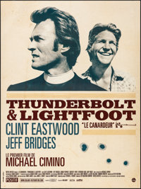 "Thunderbolt and Lightfoot (Solaris, R-2011). Folded, Very Fine/Near Mint. French Grande (46.5"" X 62""). Crime..."