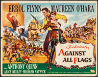 """Against All Flags & Other Lot (Universal International, 1952). Folded, Fine/Very Fine. Half Sheets (2) (22""""..."""