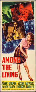 "Movie Posters:Film Noir, Among the Living (Paramount, 1941). Folded, Very Fine-. Insert (14"" X 36""). Film Noir.. ..."