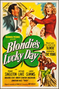 "Blondie's Lucky Day (Columbia, 1946). Folded, Very Fine-. One Sheet (27"" X 41""). Comedy"