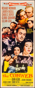 "Movie Posters:Drama, The Cobweb (MGM, 1955). Folded, Very Fine-. Insert (14"" X 36""). Drama.. ..."