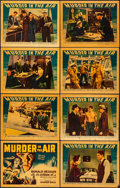 """Movie Posters:Thriller, Murder in the Air (Warner Brothers, 1940). Very Fine-. Linen Finish Lobby Card Set of 8 (11"""" X 14""""). Thriller.. ..."""