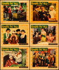 """Movie Posters:Comedy, Naughty But Nice (Warner Brothers, 1939). Very Fine-. Linen Finish Lobby Cards (6) (11"""" X 14""""). Comedy.. ... (Total: 6 Items)"""