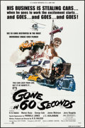 "Movie Posters:Action, Gone in 60 Seconds (H.B. Halicki International, 1974). Folded, Very Fine. One Sheet (27"" X 41""). Edward Abrams Artwork. Acti..."