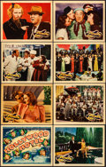 "Movie Posters:Musical, Hollywood Hotel (Warner Brothers, 1937). Very Fine. Linen Finish Lobby Card Set of 8 (11"" X 14""). Musical.. ... (Total: 8 Items)"