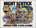 "Movie Posters:Comedy, Howard Stern: Night Schtick (1980s). Folded, Very Fine+. Radio Poster (45"" X 59.25"") Jack Davis Artwork. Comedy.. ..."